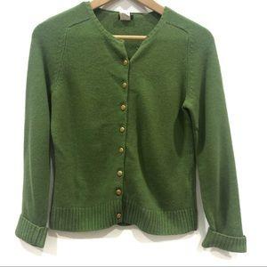 | J. Crew | vintage Kelly green cardigan
